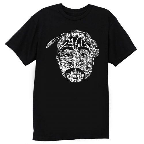 Hip Hop Face Tupac Sakur 2Pac Thug Life T Shirt