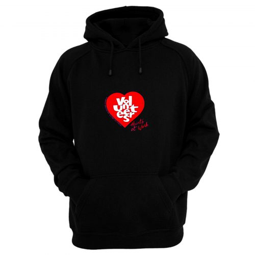 Jerzees Single Stitch Hearts at Work Hoodie