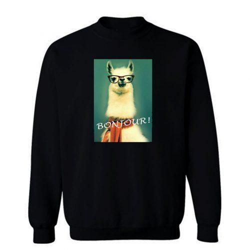 Llama Bonjour Sweatshirt