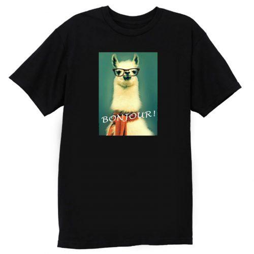 Llama Bonjour T Shirt