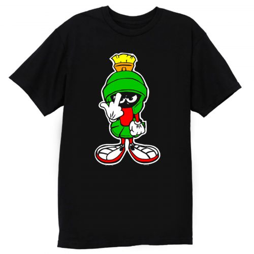 MARVIN THE MARTIAN Showing Midle Finger T Shirt
