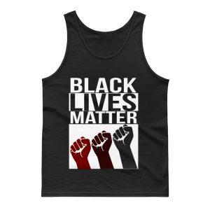 No Justice No Peace Black Lives Matter 3 Fist Tank Top