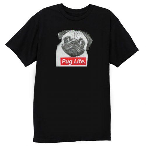 Pug Life Retro T Shirt