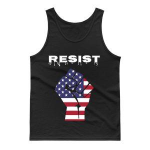 Resist American Flag Fist Tank Top