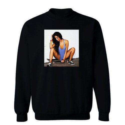 Skater Sexy Girl Skateboard Sweatshirt