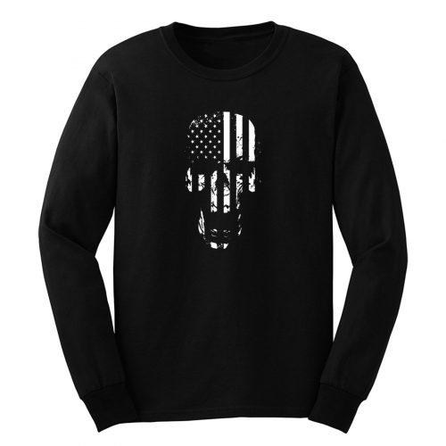Skull Flag American Long Sleeve