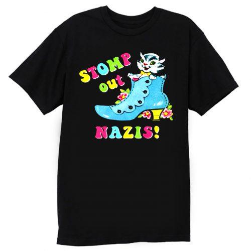 Stomp Out Nazis Vintage Cat T Shirt