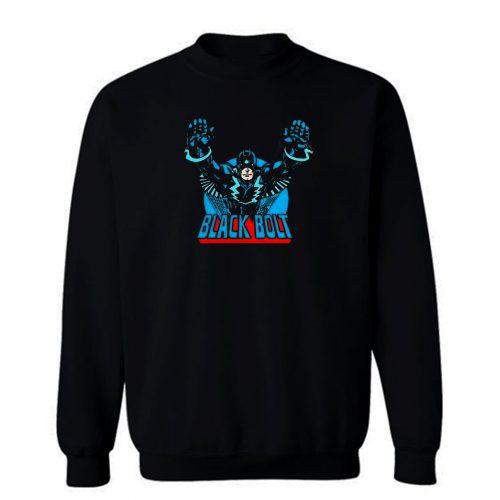 Superhero Comic Retro Black Bolt Sweatshirt