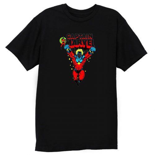 Superhero Comic Retro Captain Marvel T Shirt