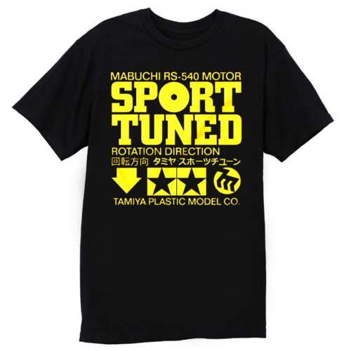 Tamiya Sport Tuned Vintage RC Car Motor Label T Shirt