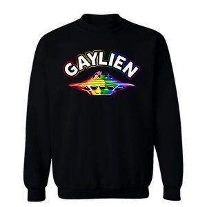 UFO Gay Pride Gaylien Funny Gay Pride Sweatshirt