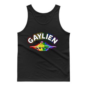 UFO Gay Pride Gaylien Funny Gay Pride Tank Top
