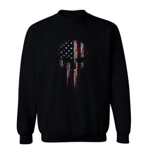 USA American Military Skull Sweatshirt