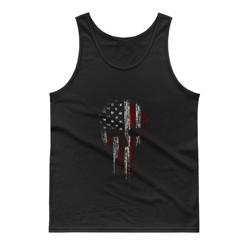 USA American Military Skull Tank Top