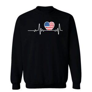USA Flag Heart 4th Of July Sweatshirt