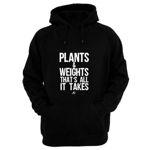Vegan Plants And Weights Hoodie