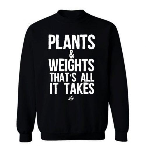 Vegan Plants And Weights Sweatshirt