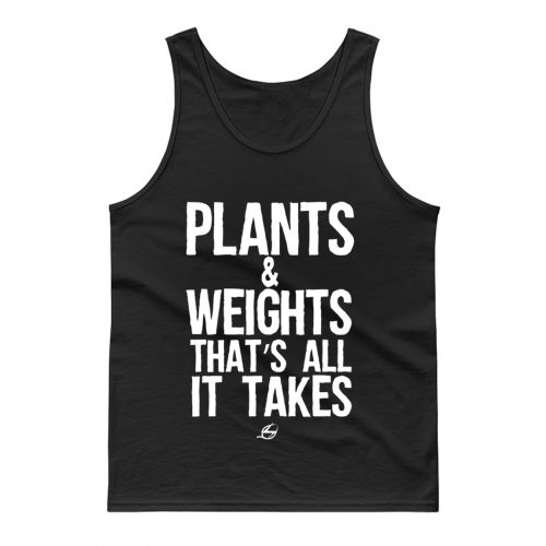 Vegan Plants And Weights Tank Top