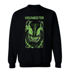Vegangster Rhino Weed Beware Sweatshirt