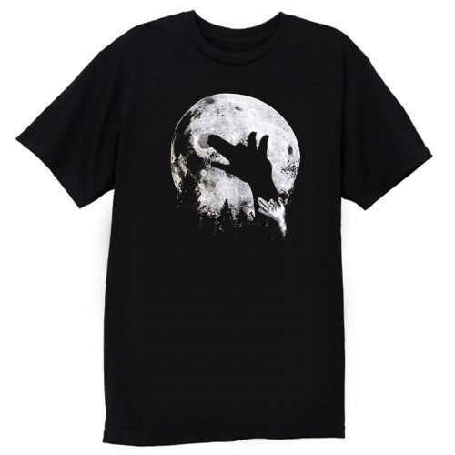 Wolf Shadow Puppet Unique Moon Outdoor Hike Camp T Shirt