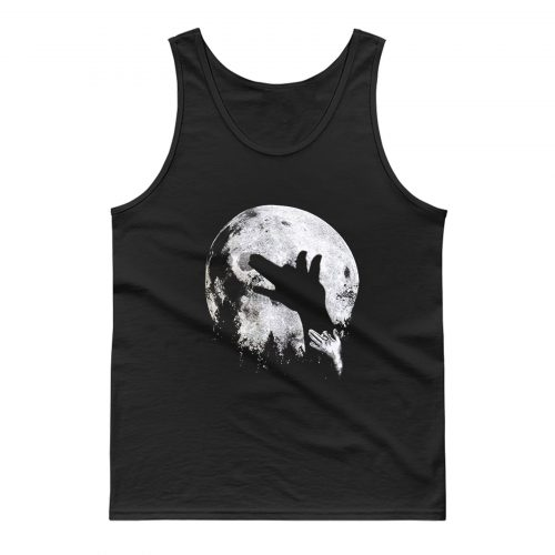 Wolf Shadow Puppet Unique Moon Outdoor Hike Camp Tank Top
