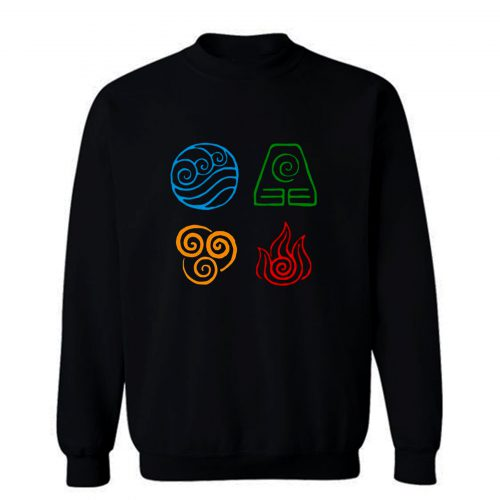 Avatar the last airbender Legend of korra tribe elements print Sweatshirt