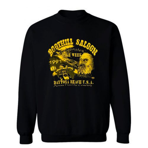 Boothill Saloon Biker Rally Single Stitch Pocket Sweatshirt