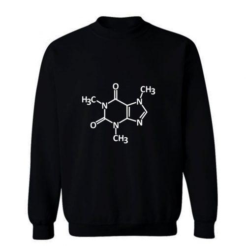 Caffeine molecule print Sweatshirt