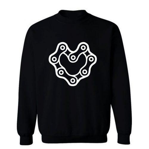 Chain Heart Motorcycle Sweatshirt