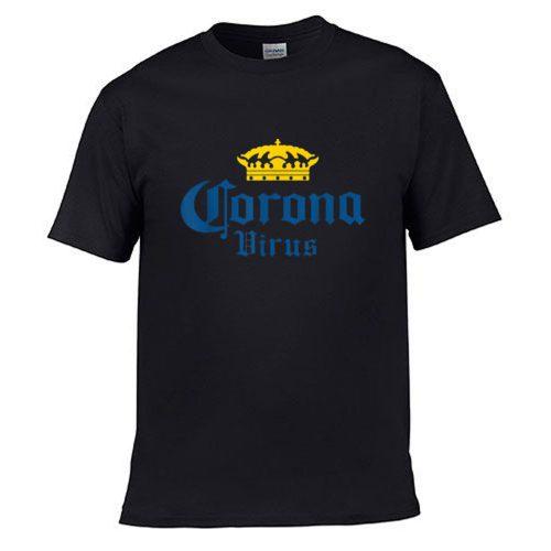 Corona Virus Funny Humor Beer Drinking Sarcasm T Shirt