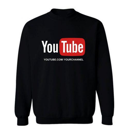 Customized YouTube Channel URL Sweatshirt