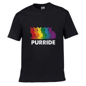 Funny Gay Pride Cat LGBT Purride T Shirt