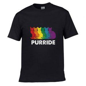 Funny Gay Pride Cat LGBT Purride T Shirt