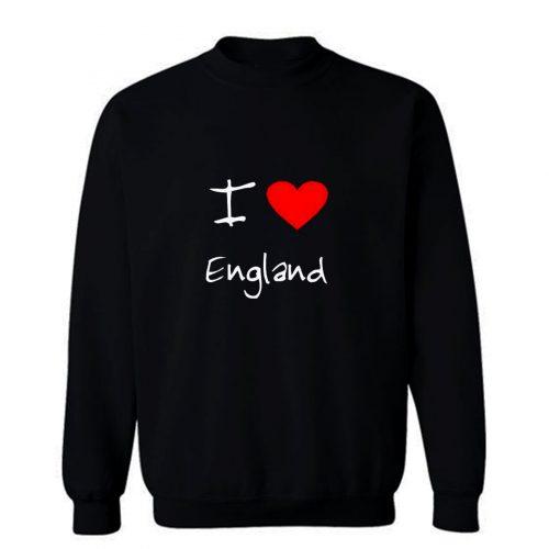I Love Heart England Sweatshirt