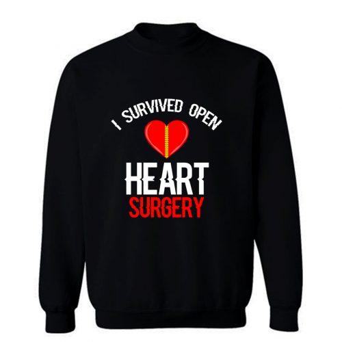 I Survived Open Heart Surgery Men Women Sweatshirt
