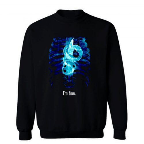 Im Fine Rontgen Heart Sweatshirt