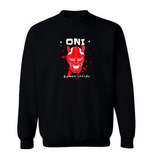 Japanese Demon Oni Yokai Sweatshirt