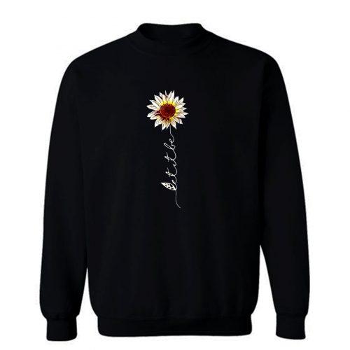 Let It Be Hippie Flower Sweatshirt