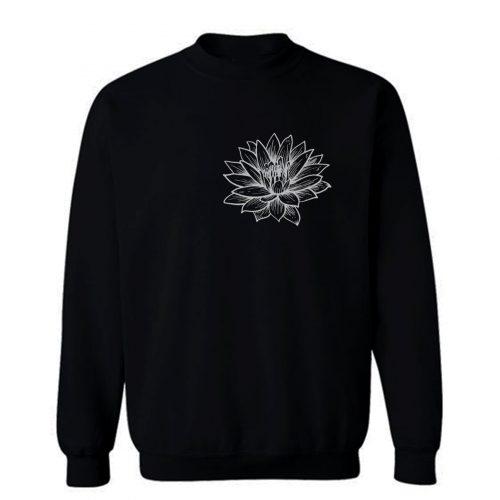 Lotus Flower Pocket Sweatshirt