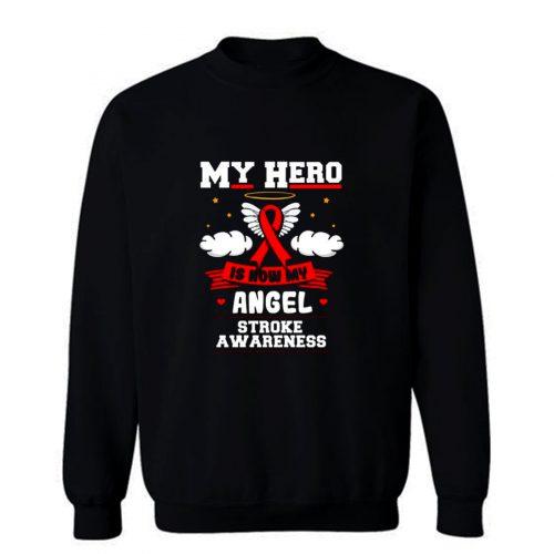 My Hero Is Now My Angel Red Ribbon Awareness Sweatshirt