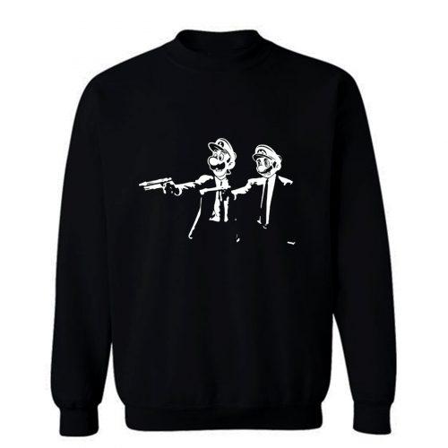 Plumb Fiction Super Mario Characters Sweatshirt
