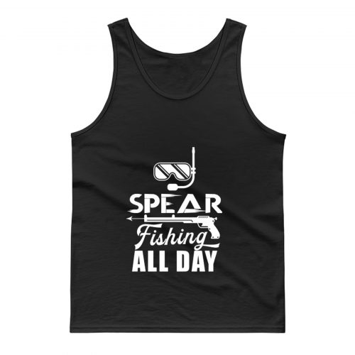 Spearfisher Spearfishing Harpooning Harpoon Spear Tank Top