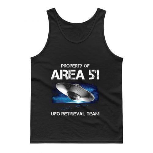 UFO Glow in the Dark Area 51 Spaceship Tank Top