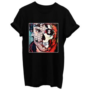 Will Graham Comic Style Puzzle Skull T Shirt