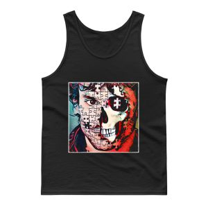 Will Graham Comic Style Puzzle Skull Tank Top