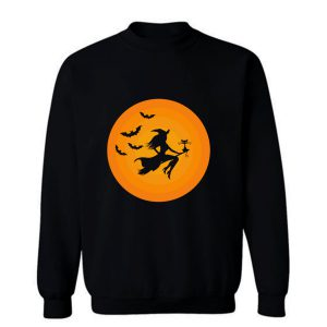 Witch On Broomstick Sweatshirt