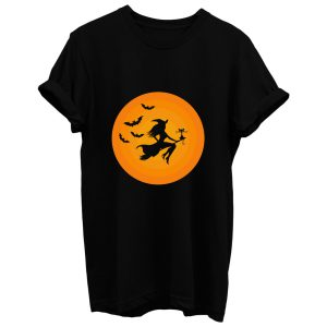 Witch On Broomstick T Shirt