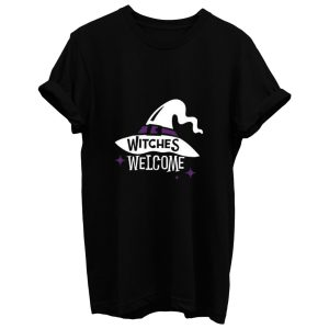 Witches Welcome Halloween T Shirt