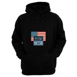 Your Voice Your Vote Retro Vintage Us Flag Hoodie