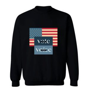 Your Voice Your Vote Retro Vintage Us Flag Sweatshirt